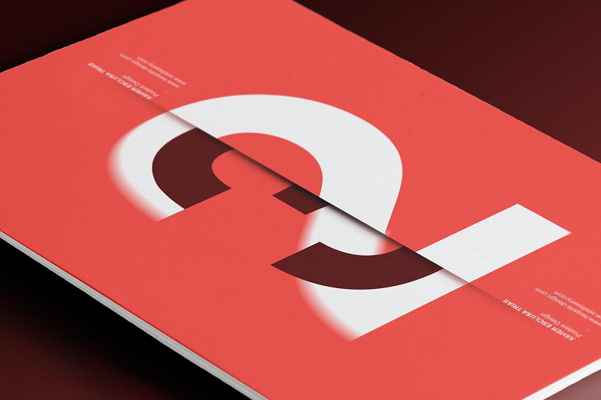 Xavier Esclusa Trias Behance minimal type Typographie xet Twopots design poster graphic design
