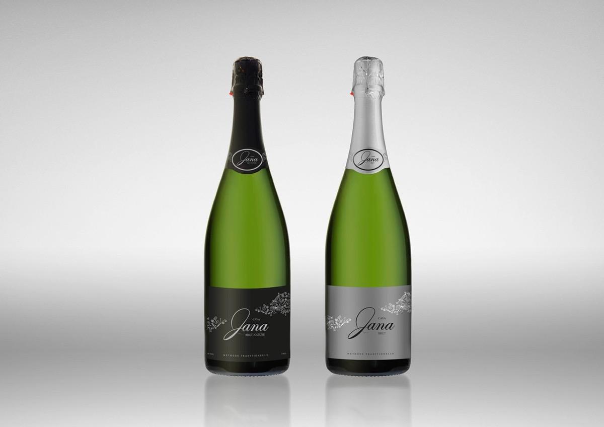 cava Champagne sparkling wine cuvee Label sleeve