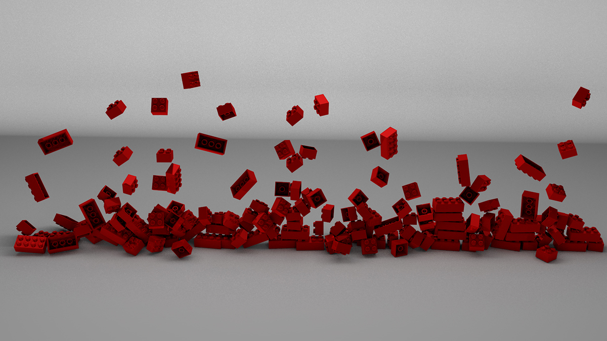 LEGO cinema 4d Render