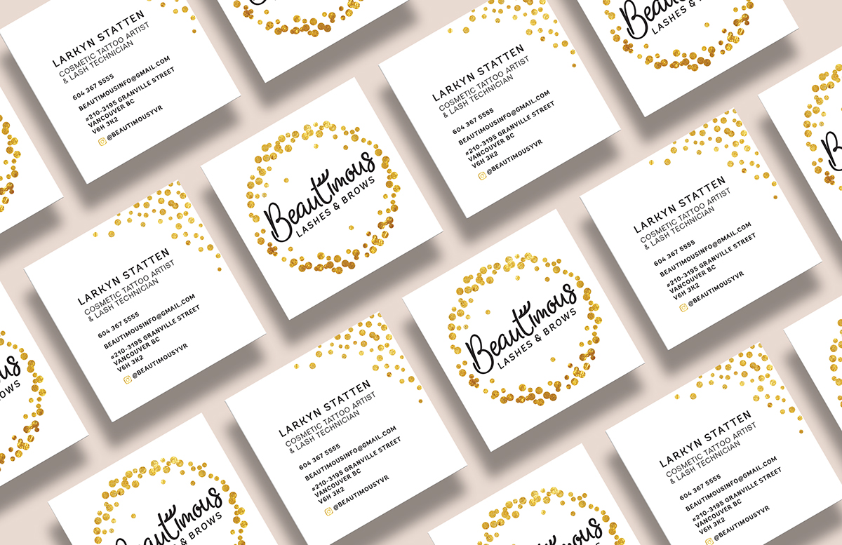 Beautimous Lashes & Brows - Brand Identity on Behance