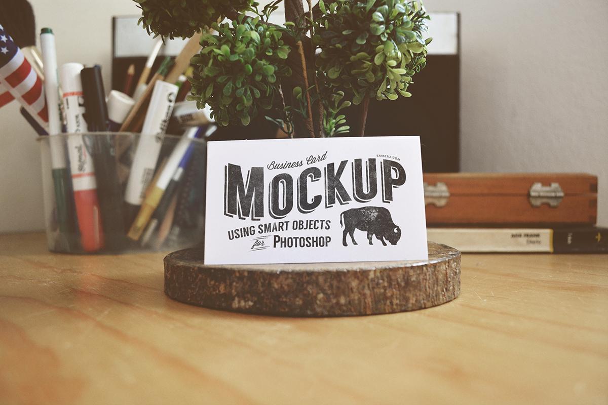 business card mock-up logo Mockup vintage psd freebie free photoshop download card mockup