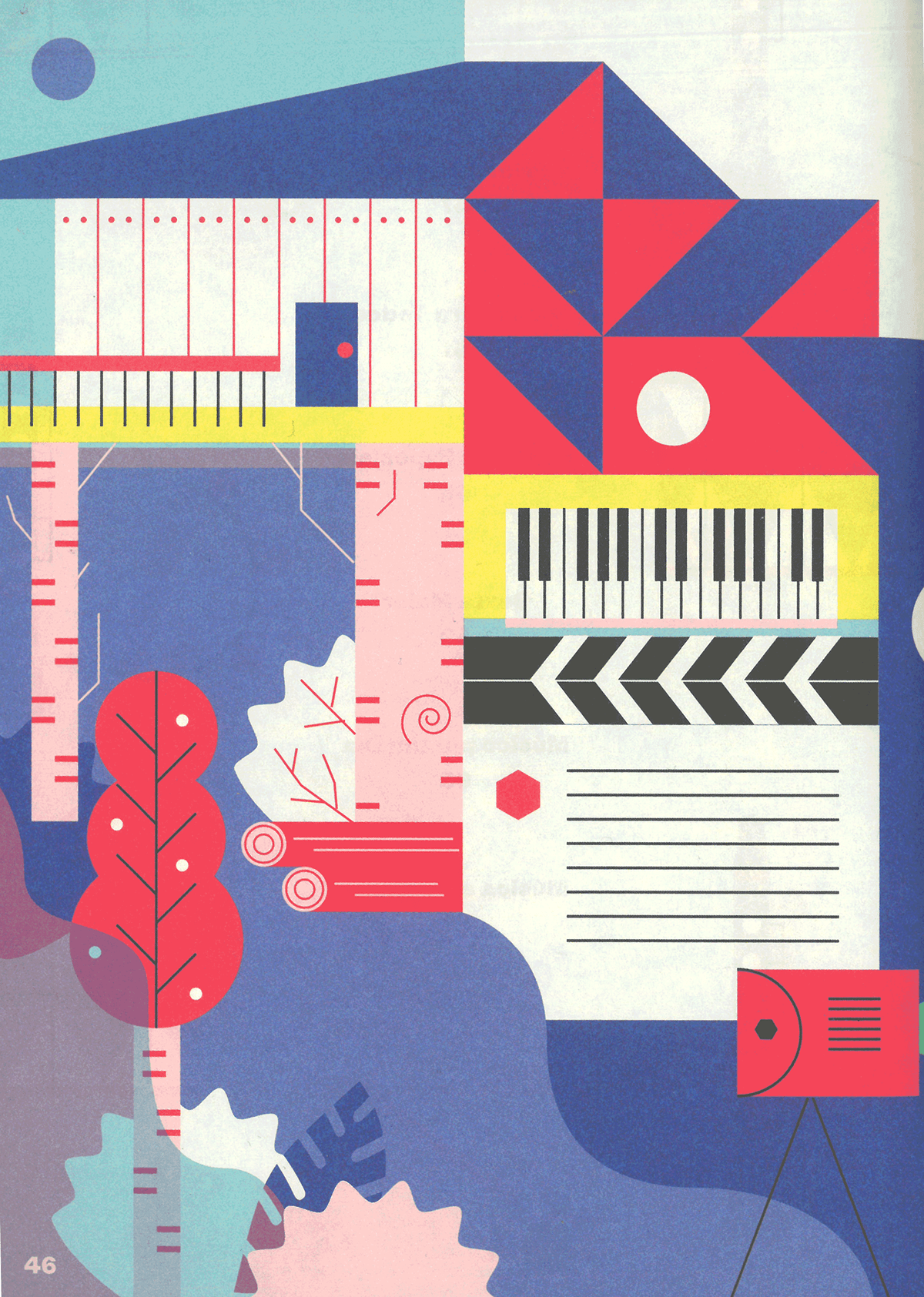 children illustration colors editorial Education Games ILLUSTRATION  instruments music Musical workshops
