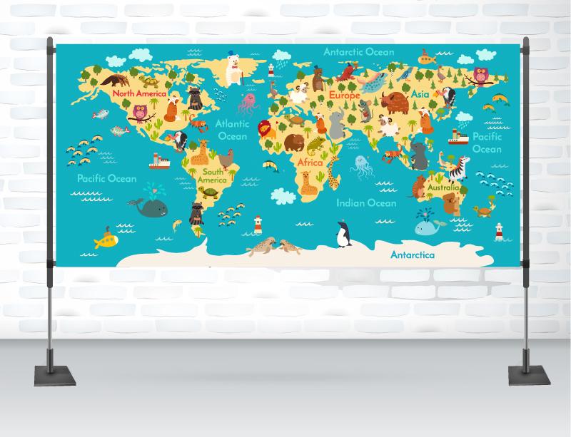 Animals world map on behance gumiabroncs Images