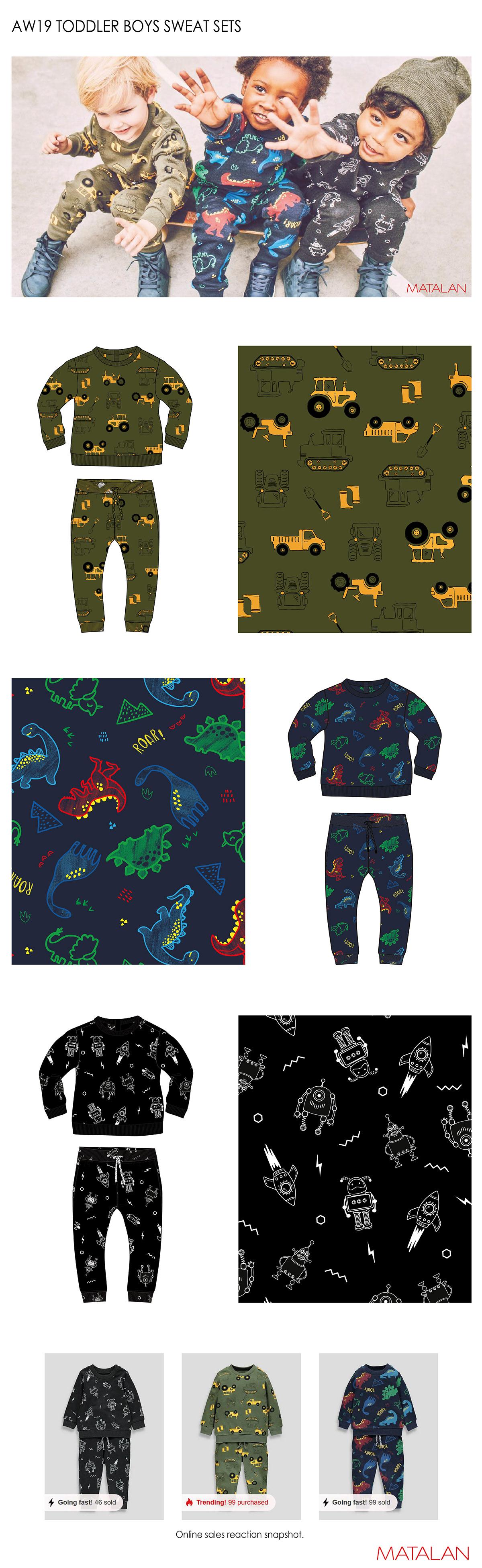 Fashion  Childrenswear KIDSWEAR FASHION Dinosaur Tractor spaceships branding  advertisement adobe