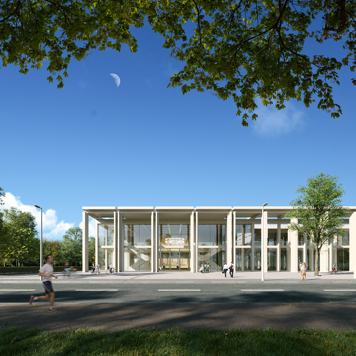 3D architecture archviz CG CGI Competition Music Center visualization win