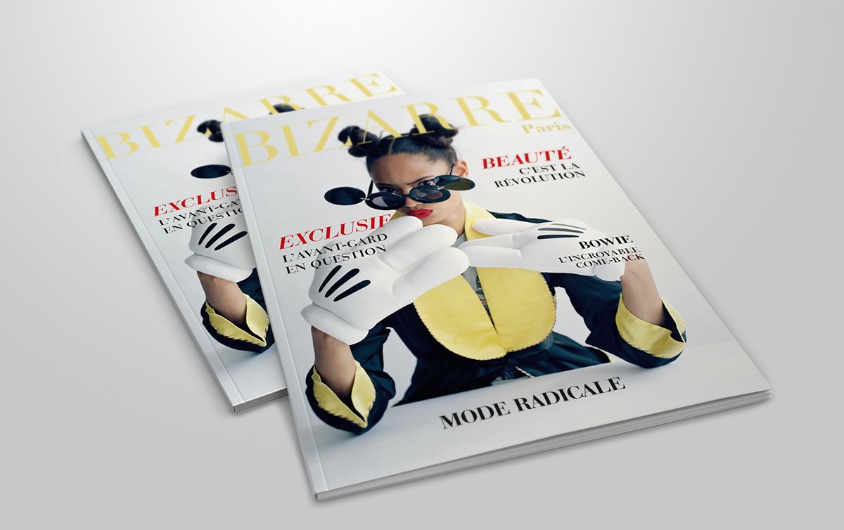 magazine cover cuisine Mode Photographie design mise en page