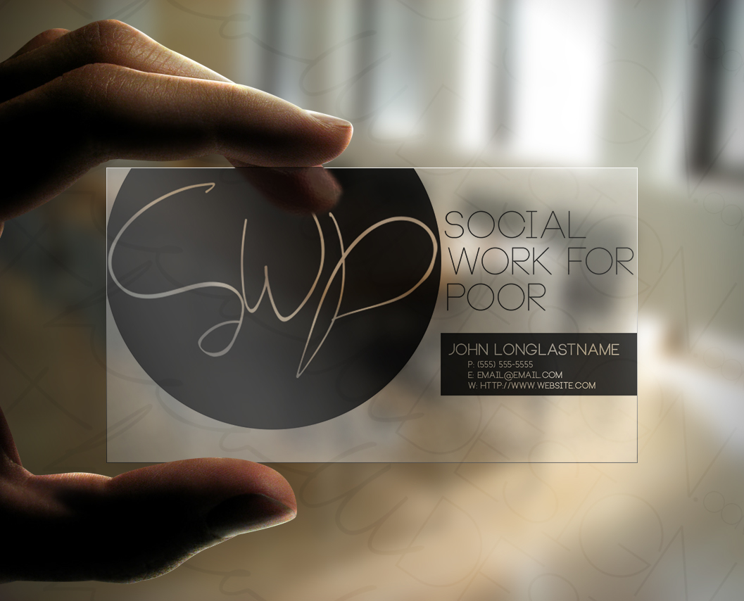 Social Work For Poor Business Card Design On Behance
