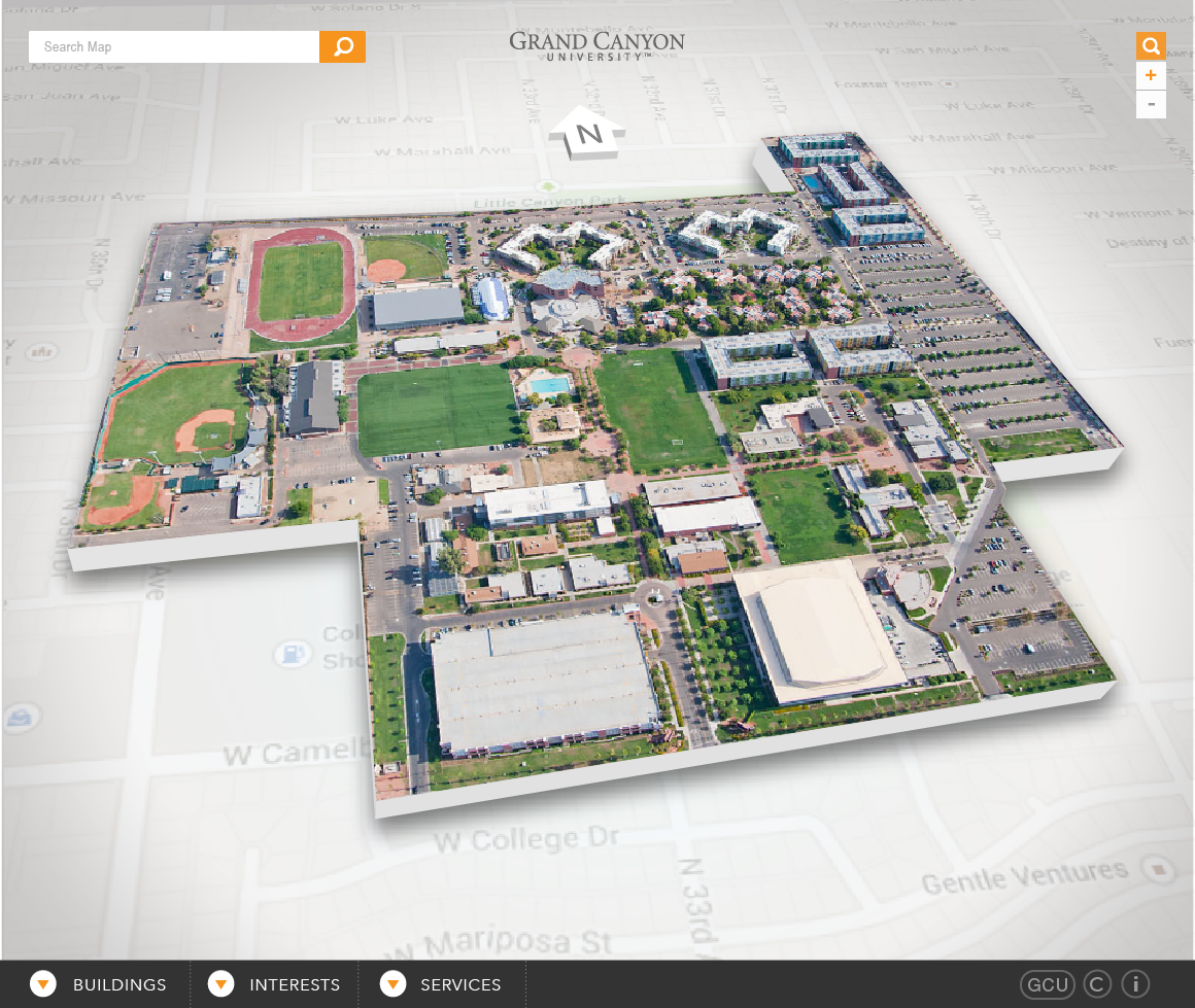 Example Site Map Location: GCU Interactive Campus Map On Behance