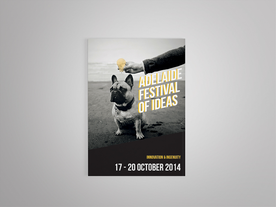 adelaide festival of ideas brochure design on behance