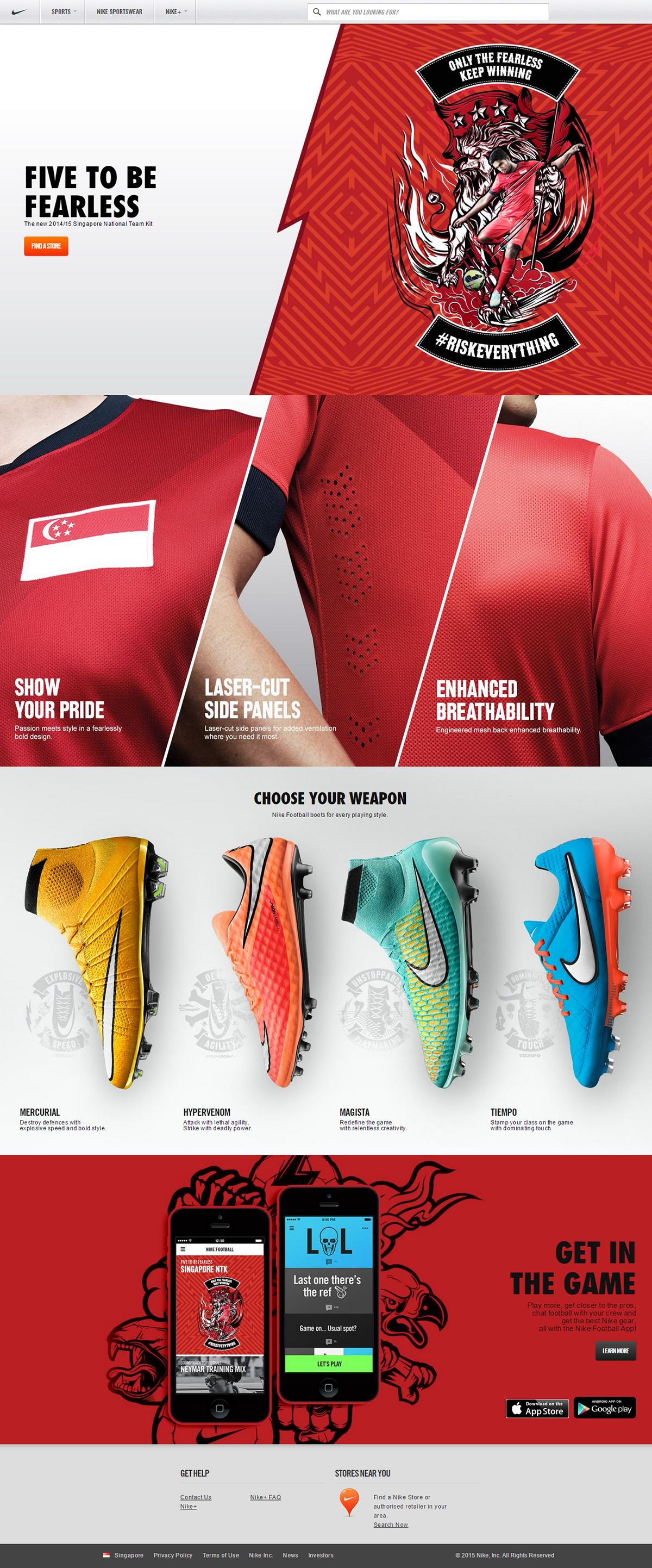 Nike nike football Nike Football Singapore Nike Football Malaysia Nike Football Indonesia Nike Football Thailand sports illustration football Vector Illustration BBH Asia Pacific