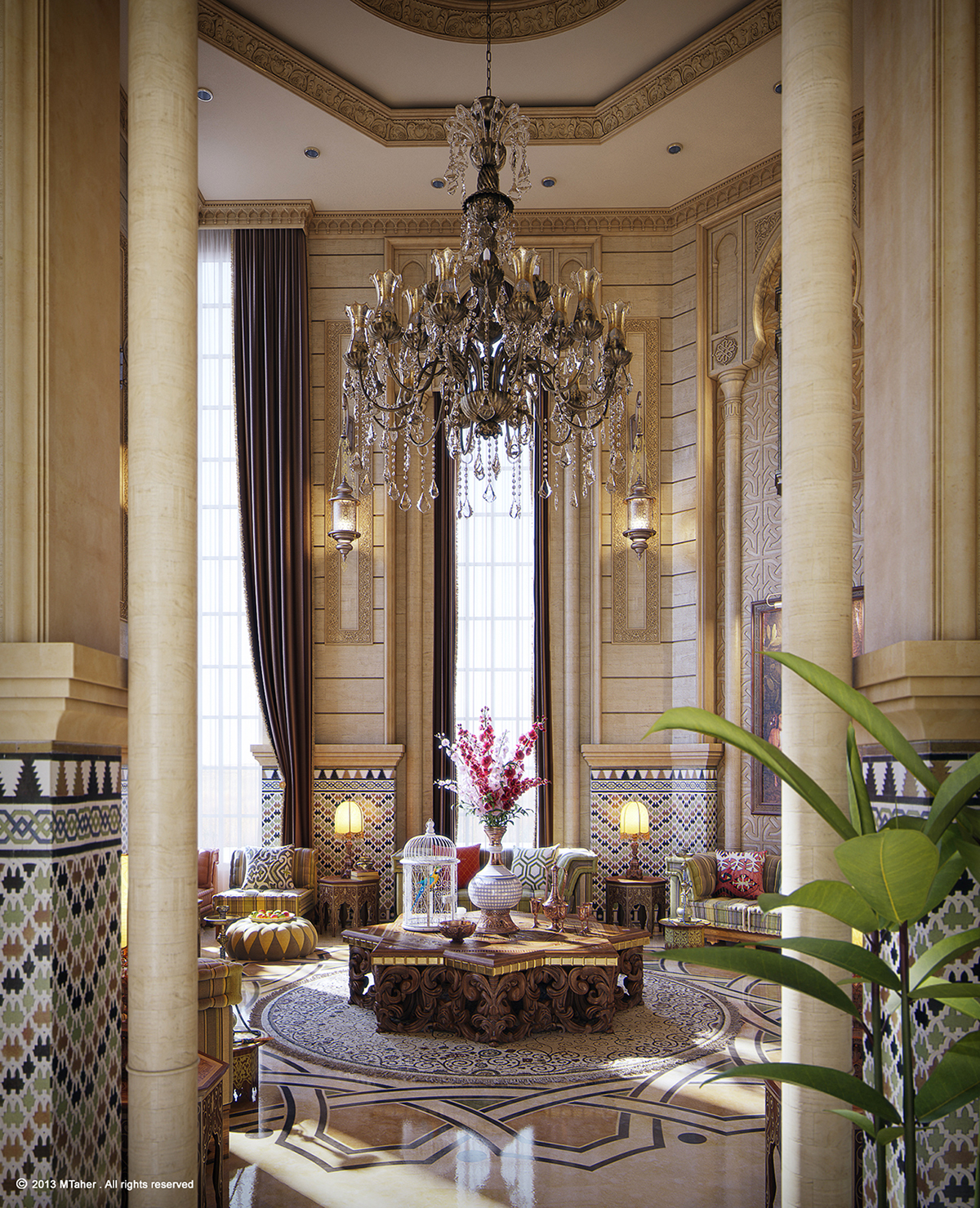 Dreamy Spaces Rendered By Muhammad Taher: Moroccan Majlis On Behance