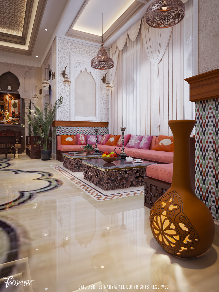 Arabic majlis in dubai on behance for Arabic interiors decoration