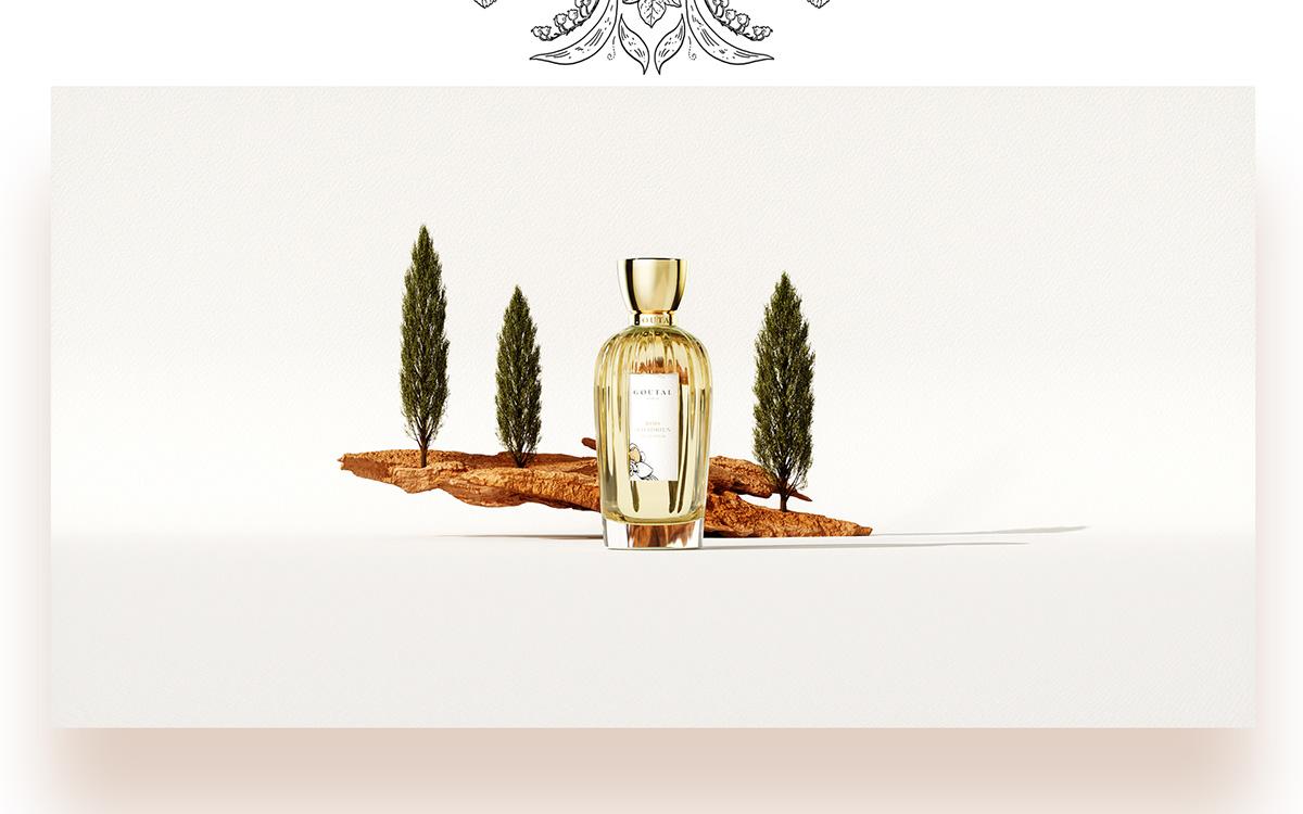 CGI motion Goutal Paris Bois d'Hadrien reveal pack Fragrance olfactive memories ocher air Sun