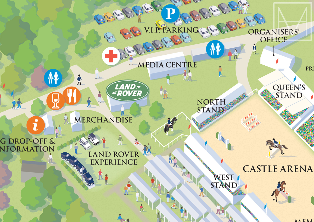 Royal Windsor Horse Show Visitor Map On Behance