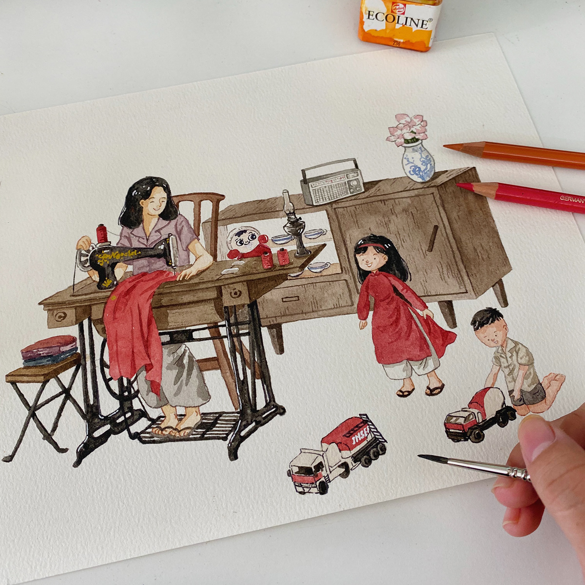 Image may contain: wall, cartoon and drawing