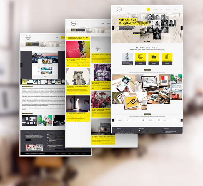 SKOKOV - Free Corporate Web Design Template PSD on Behance