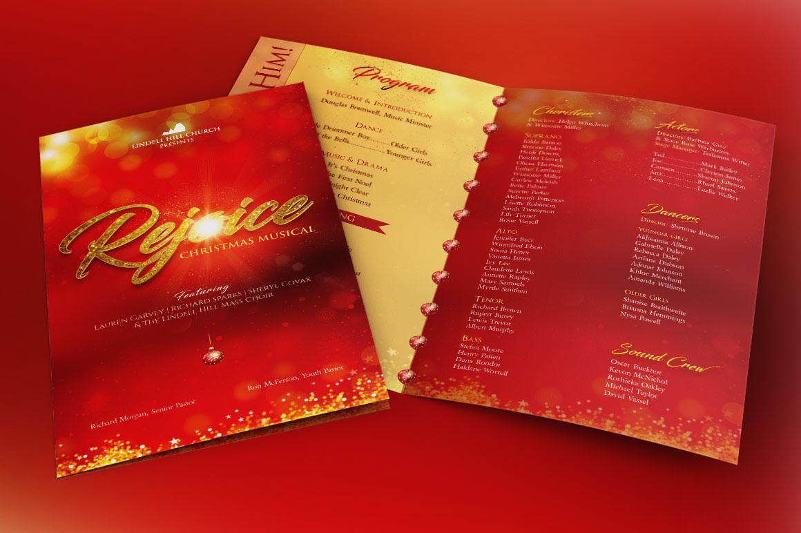 christmas concert program template
