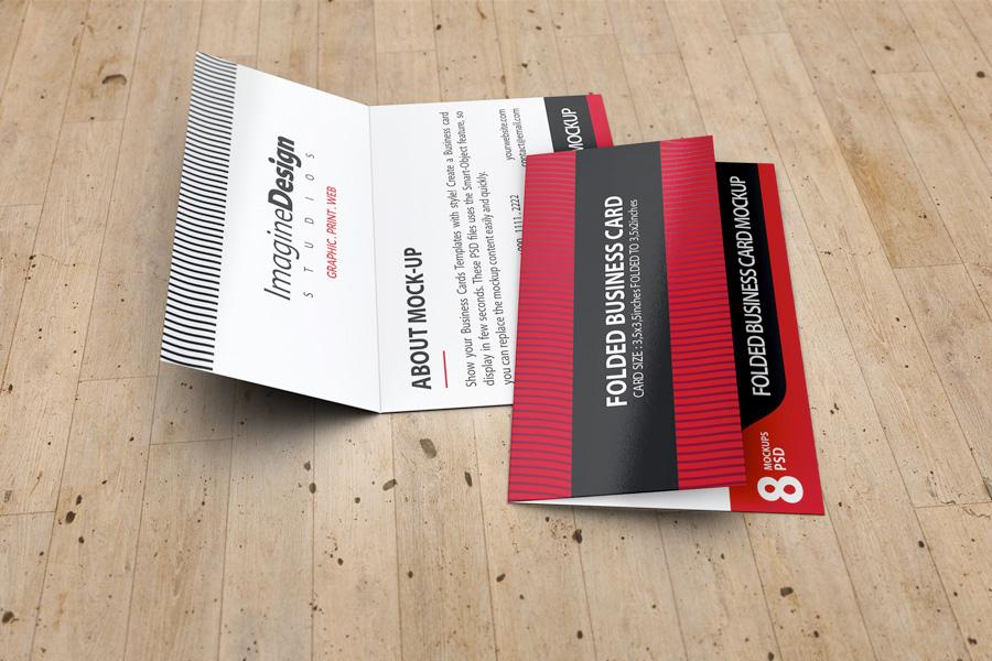 Folded Business Card Mockup V3 on Behance