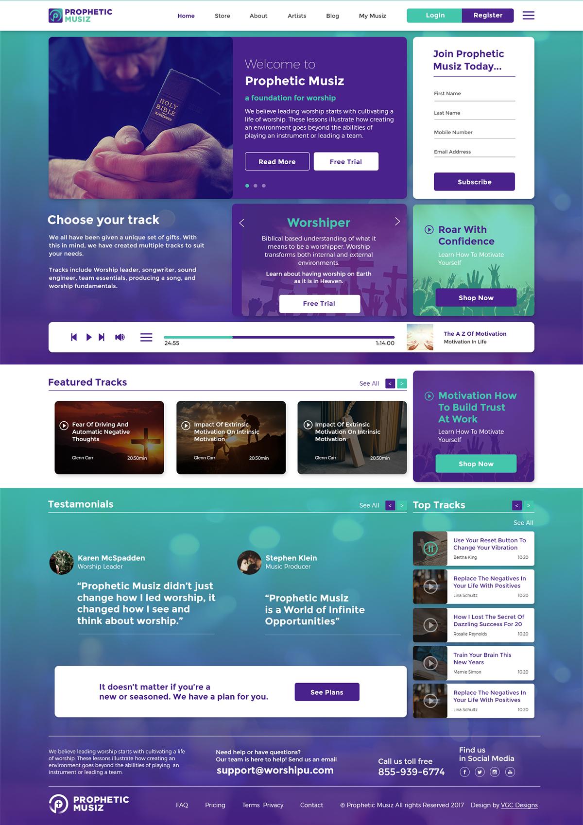 ZOE Ministries - Prophetic Musiz Website & Brand Identity design interaction ui design UX design brand identity church music church