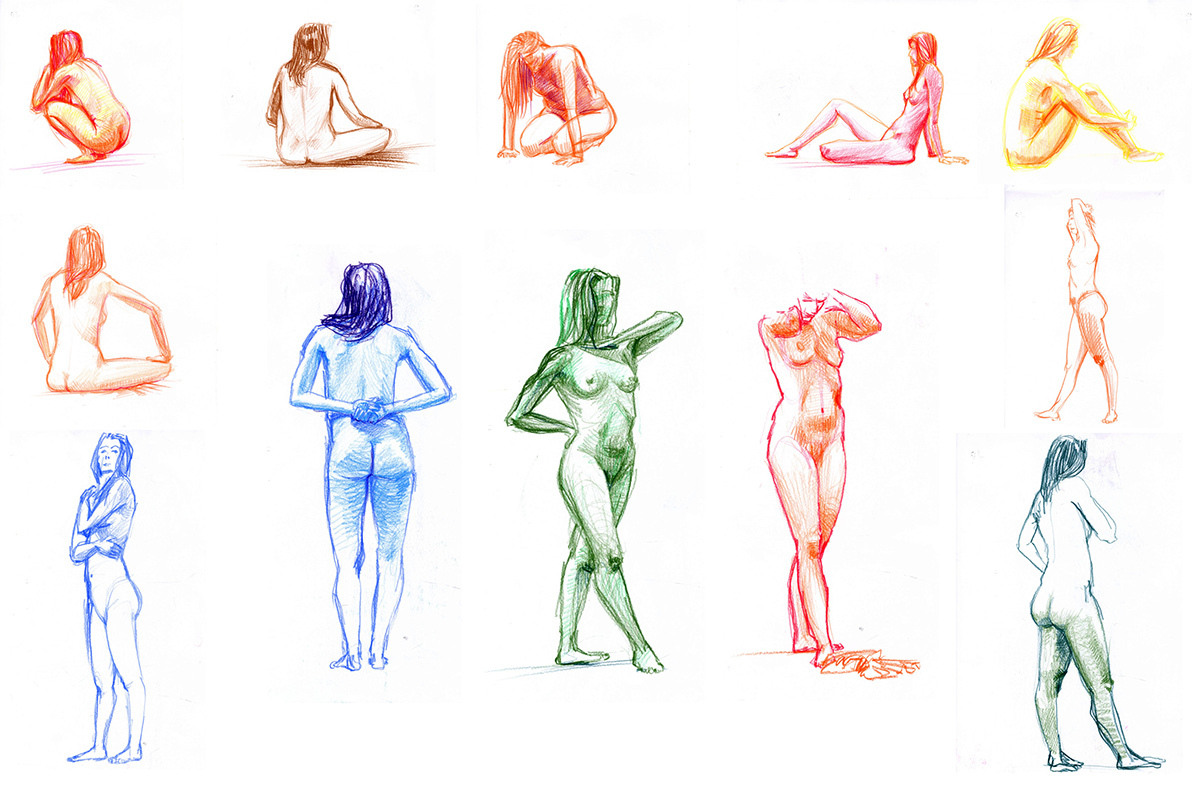 nudo figure disegno modelli