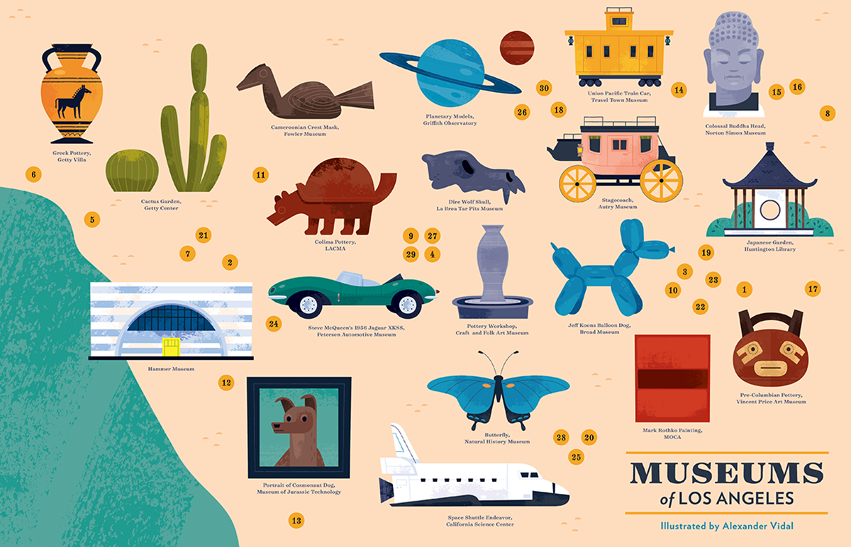 Museums of Los Angeles Map on Behance on washington dc museums map, pergamon museum berlin map, american museum natural history map, florida map, science museum london map, getty hours, mexico map, philippines map, venice map, getty tram, halloween map, california map, cabrillo beach map, high museum map, italy map,