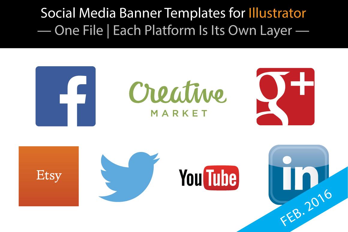 Social Media Banner Templates for Illustrator on Behance