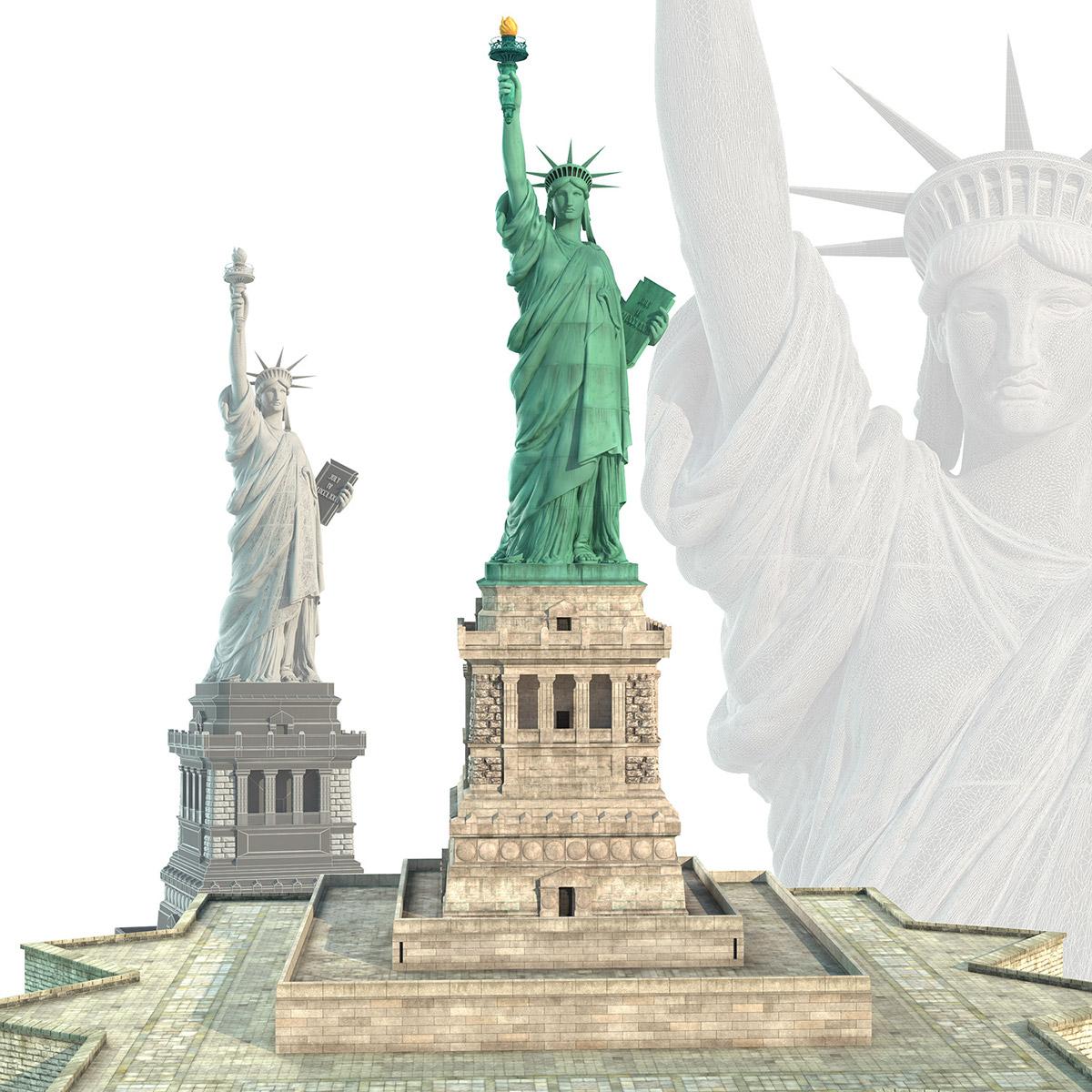 statue of liberty 3d model on behance