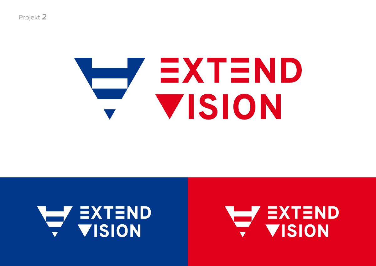 logo identity Extend Vision company Exhibition  polska poland monogram