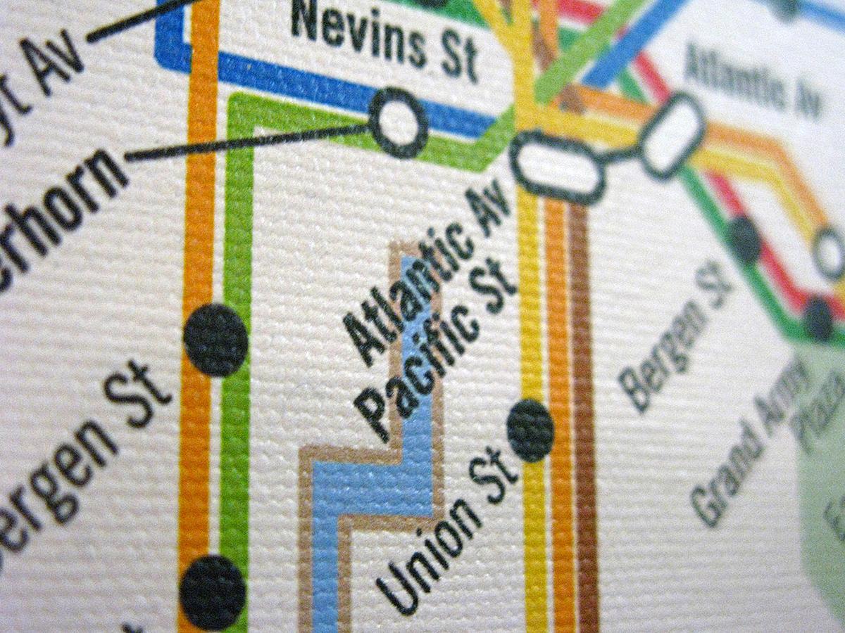 design New York subway  Map  redesign  modern  vignelli  hertz  mta