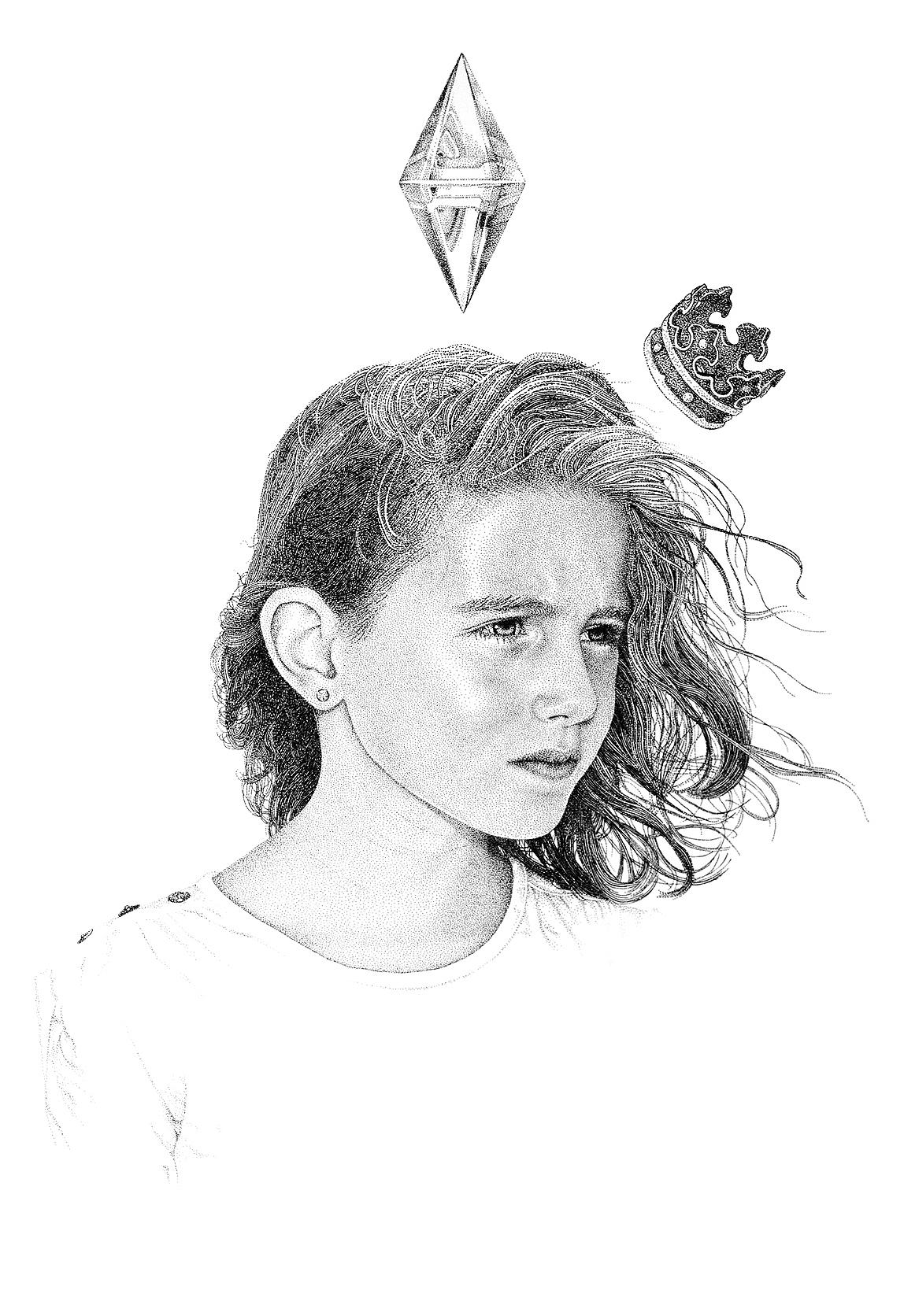 Мигель Эндара рисунки точками