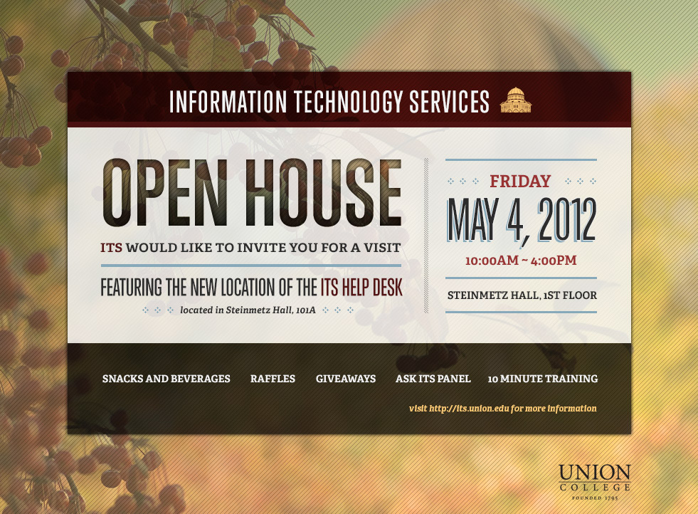 Its open house invitation on behance its open house invitation union college stopboris Image collections