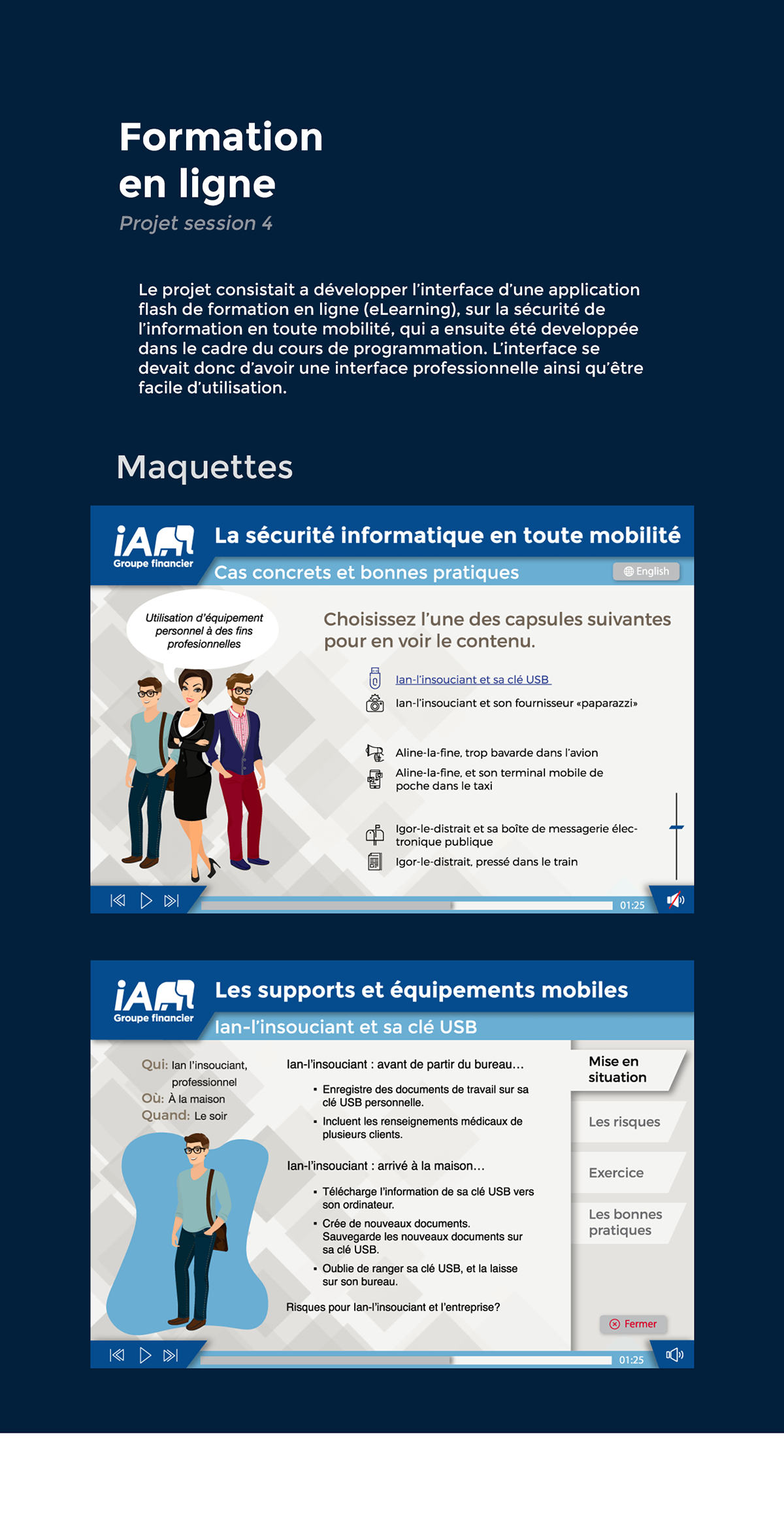 formation eLearning professionnel Web design Interface Responsive Flash Actionscript