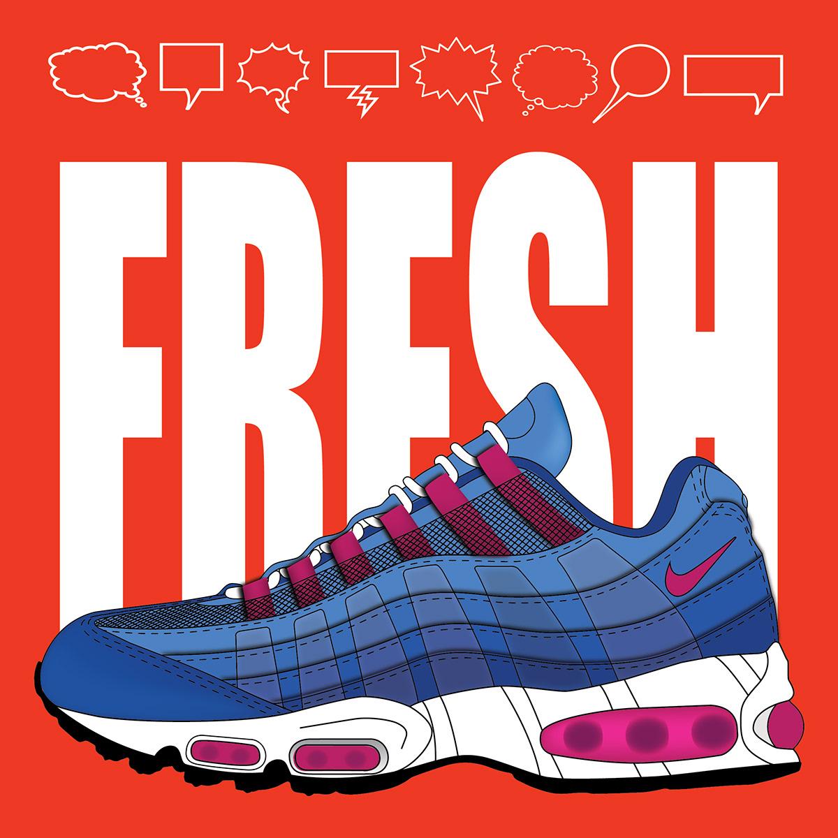 sneakers Nike air max fresh ILLUSTRATION  Illustrator