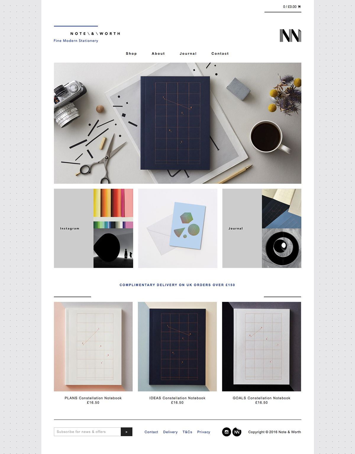 Shopify Note & Worth notebooks grid Stationery Mona Cheng design The Printer's Son