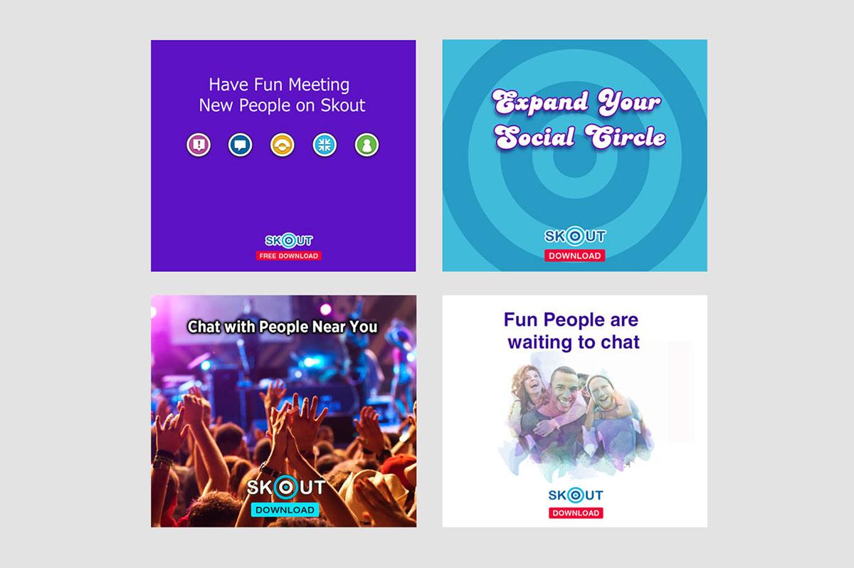 Skout Ads on Behance