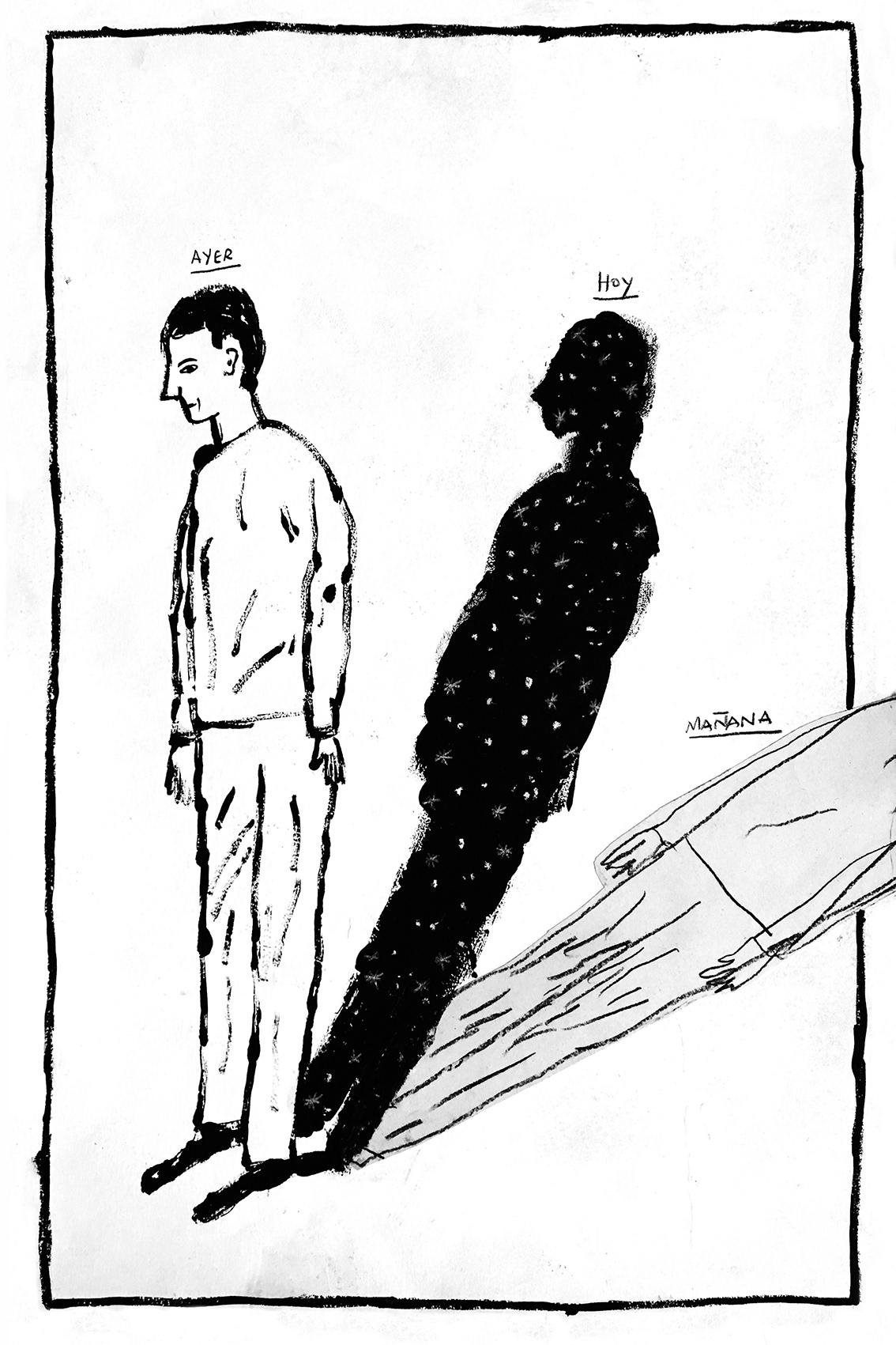 black and white conceptual cosmos DIY editorial ILLUSTRATION  Riso TRANSFER Zine  Show