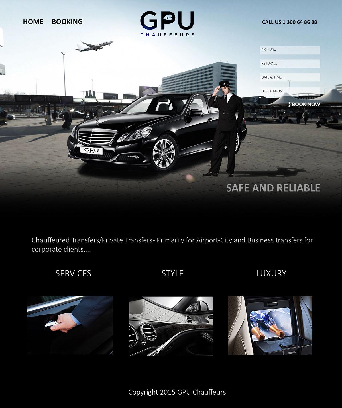 design GPU chauffeurs Web Website GPU Chauffeurs