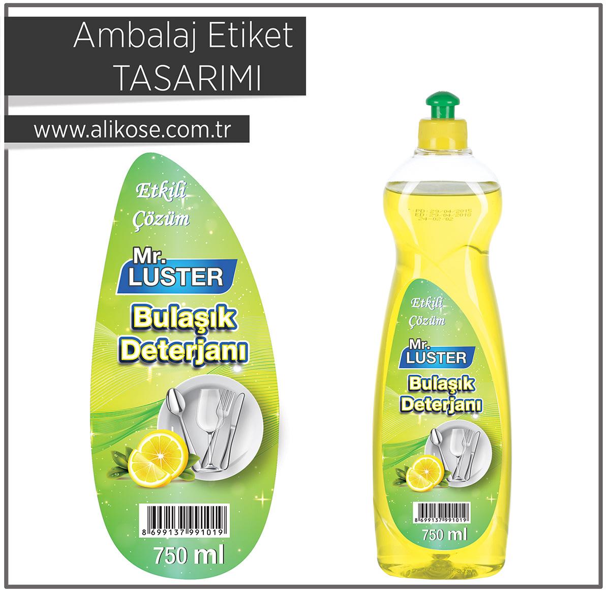 packaging design design Packaging grapich Aliköse CGKOSE dishwashing detergent