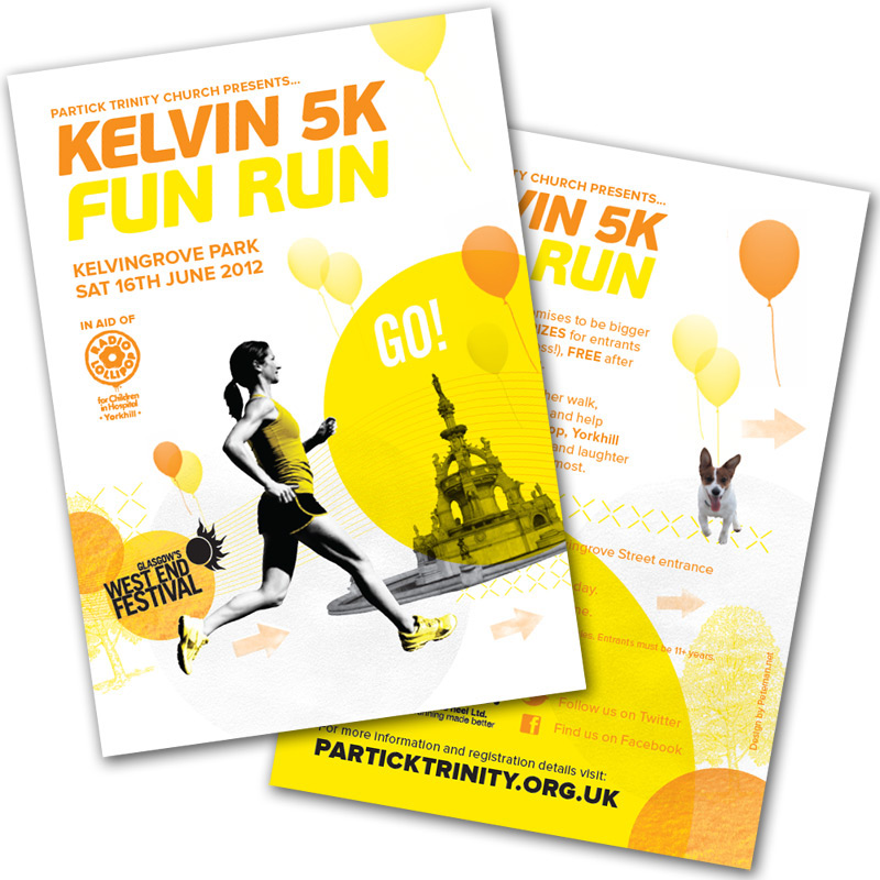 Kelvin 5k fun run on behance ive been involved each year in helping to organise it and produce the marketing material including posters flyers website template and email templates pronofoot35fo Gallery