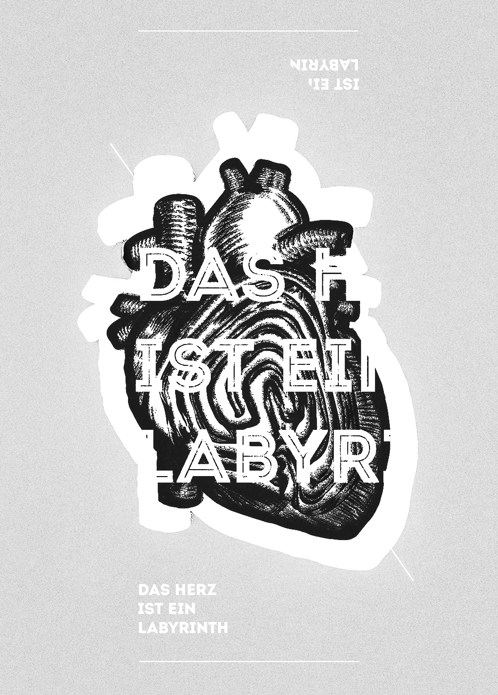 heart drawn labyrinth red artwork franko schiermeyer