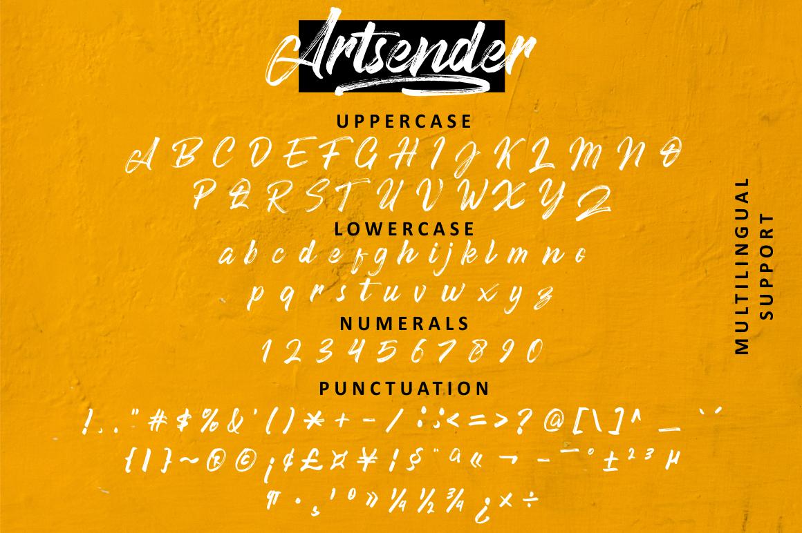 font typography   brush natural Script lettering Typeface