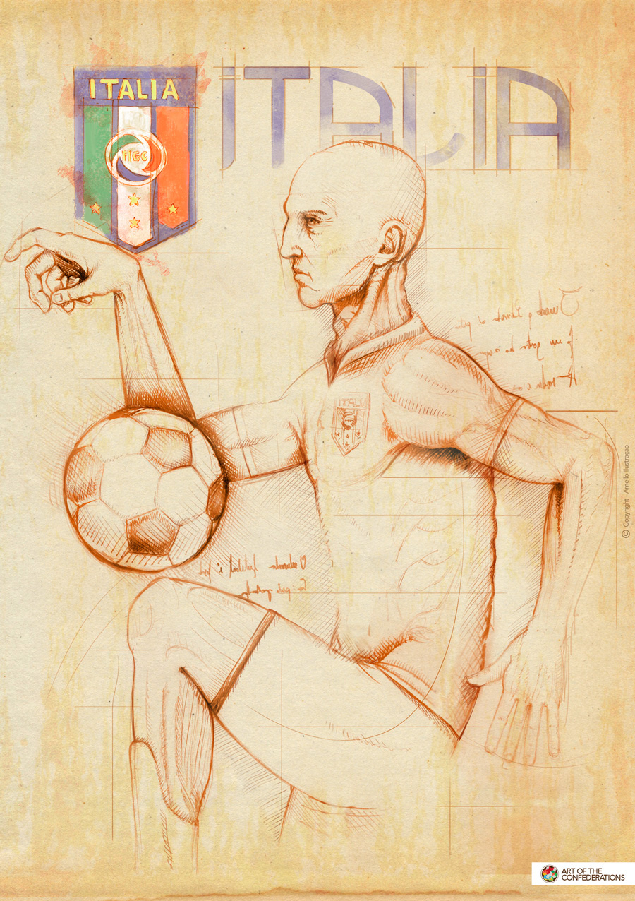Picasso cup Brazil 2D ball soccer football Selections world cup spain japan Italy futebol copa do mundo seleções