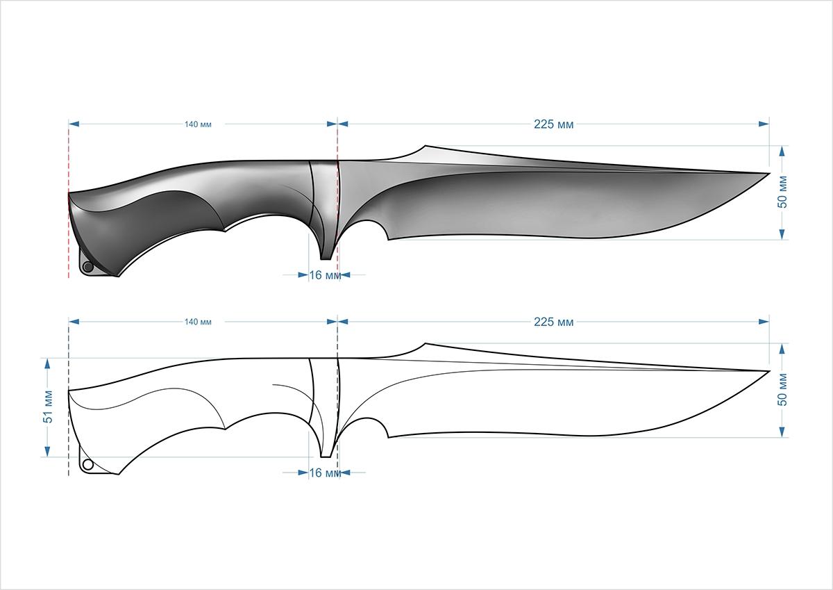 хочет формы охотничьих ножей чертежи фотографии можете таким