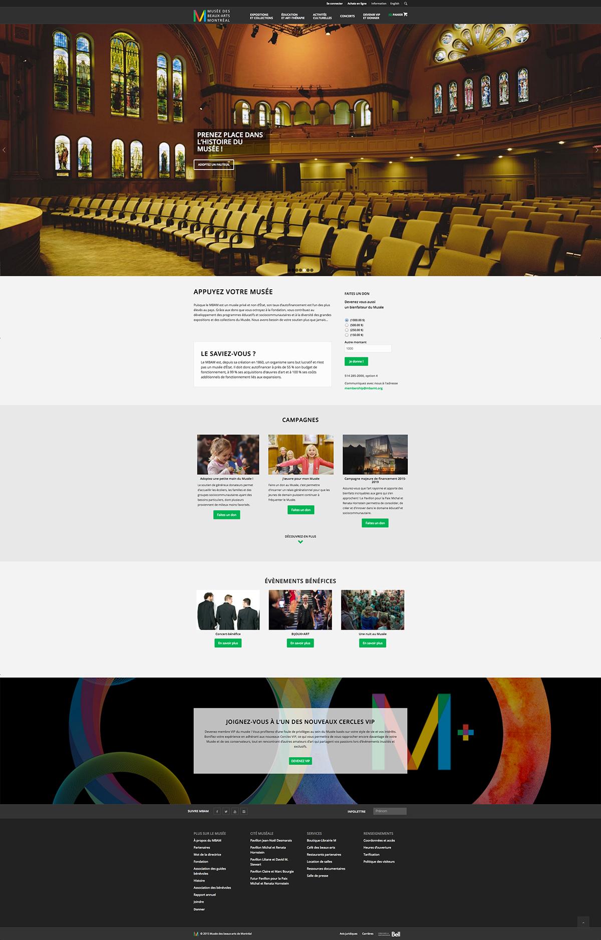 Montreal museum musée beaux-arts art Responsive Interface Web Responsive Design ui ux Responsive Interface Design Refonte redesign wordpress