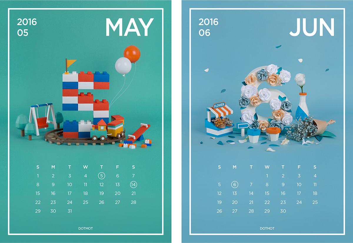Calendar Art Project : Paper art calender project making film on behance