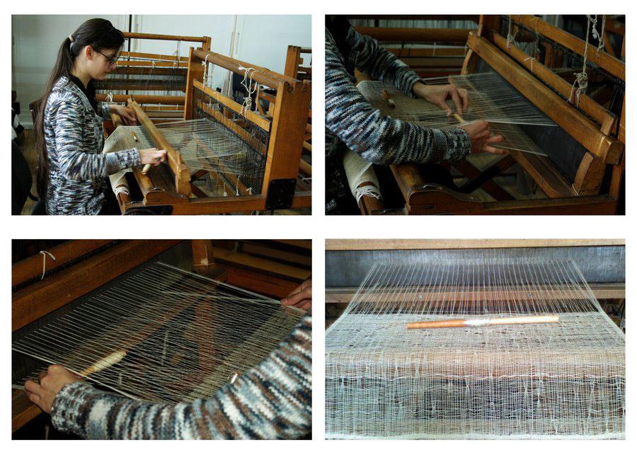 weaver weaving spider nest fabric contexture artist art Art Installation