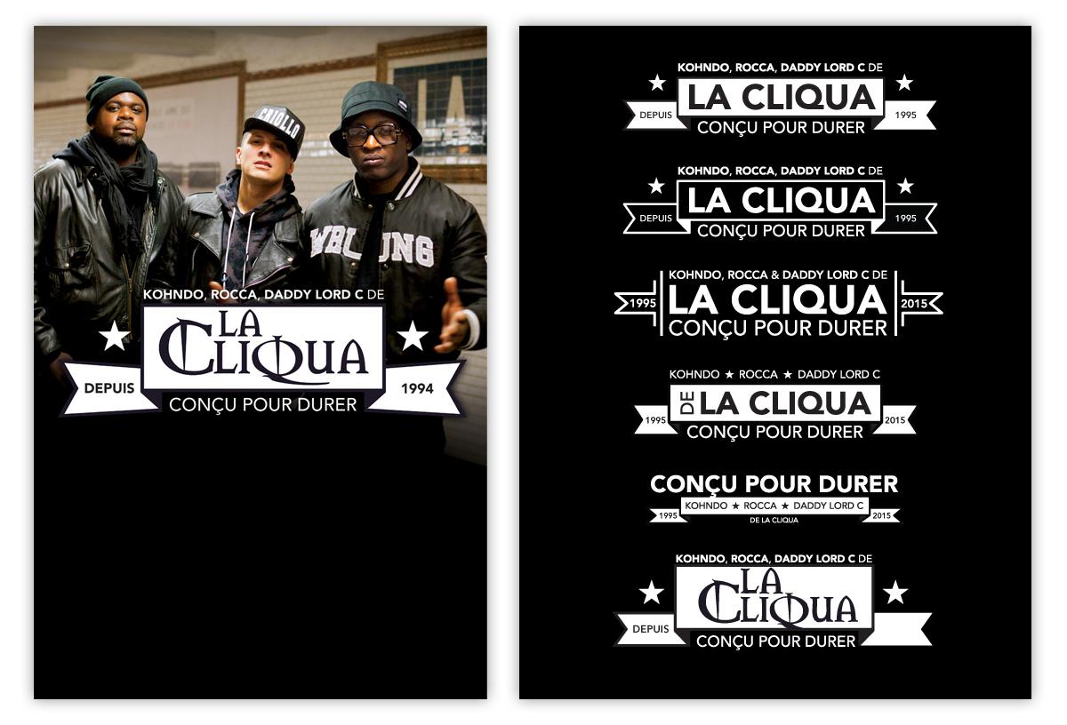 flyer hip hop La Cliqua Daddy Lord C rocca Kohndo poster