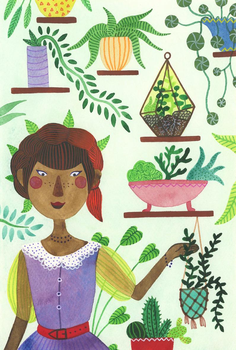 sketchbook Paintings Flowers girls FOX plants ladies Nature drawings doodle