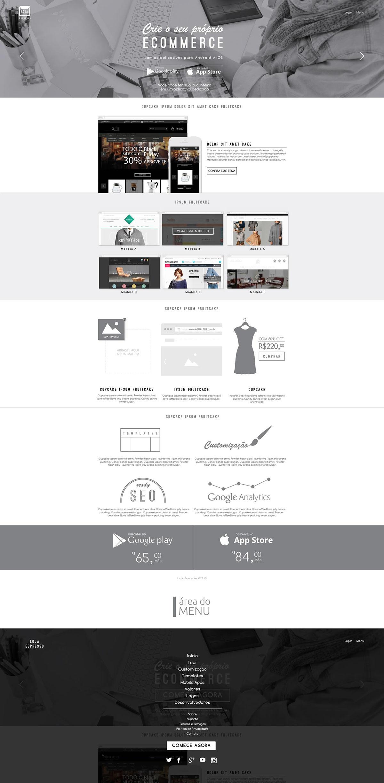 Ecommerce Web+Design Web design ux Interface photoshop css html5 Responsive app mobile user+interface gray White