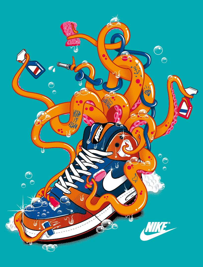 Design t shirt nike - Nike T Shirt April 2012 Octopus